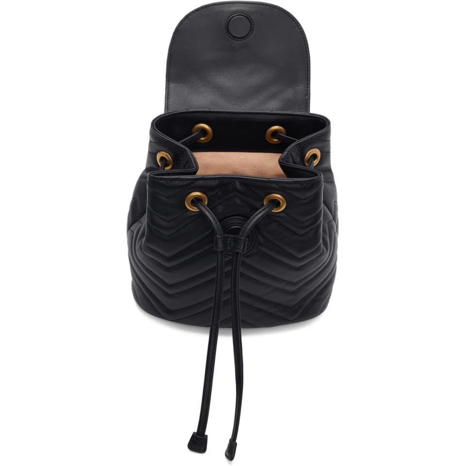 db0392d1616b Gucci - Black Mini GG Marmont 2.0 Backpack - Lyst. View fullscreen