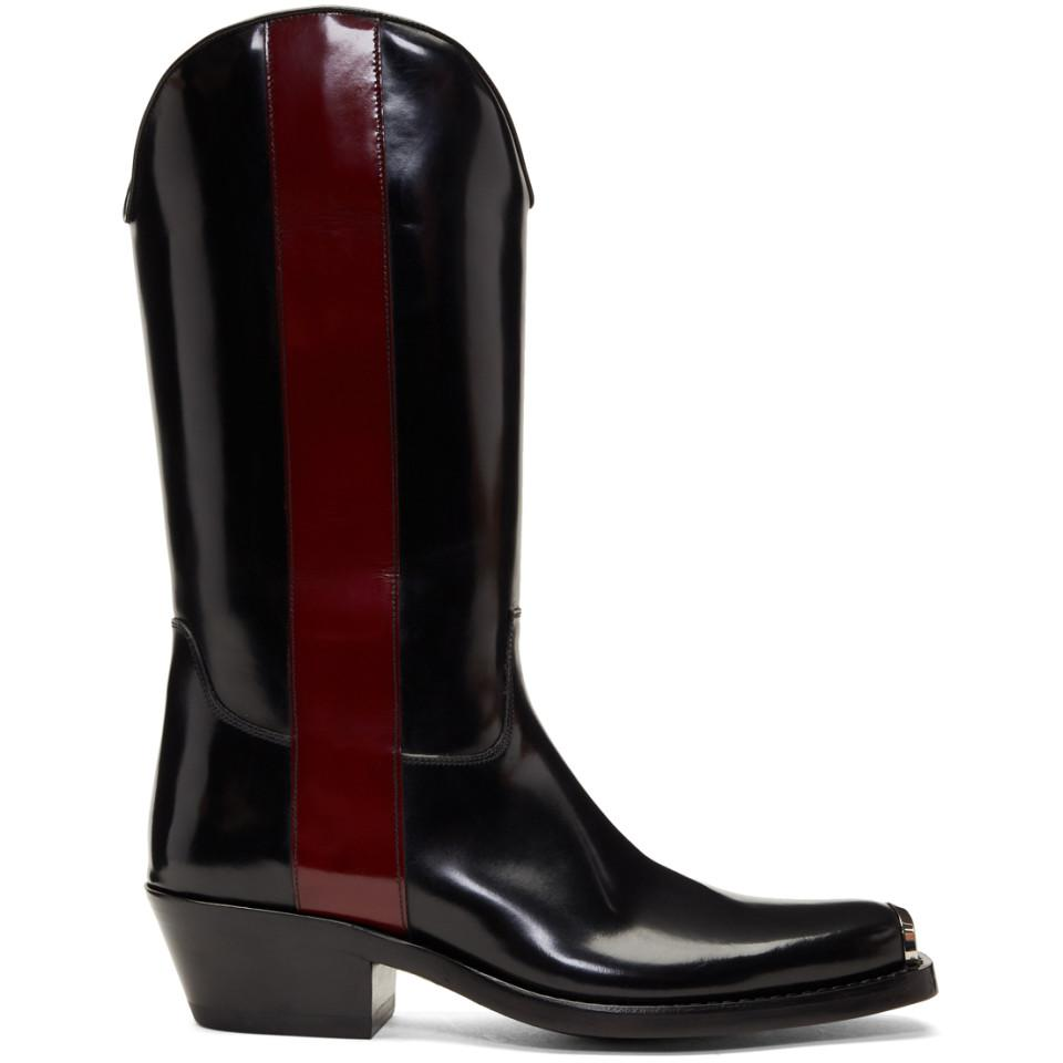 Black and Red Ed Western Boots CALVIN KLEIN 205W39NYC m2HsO9
