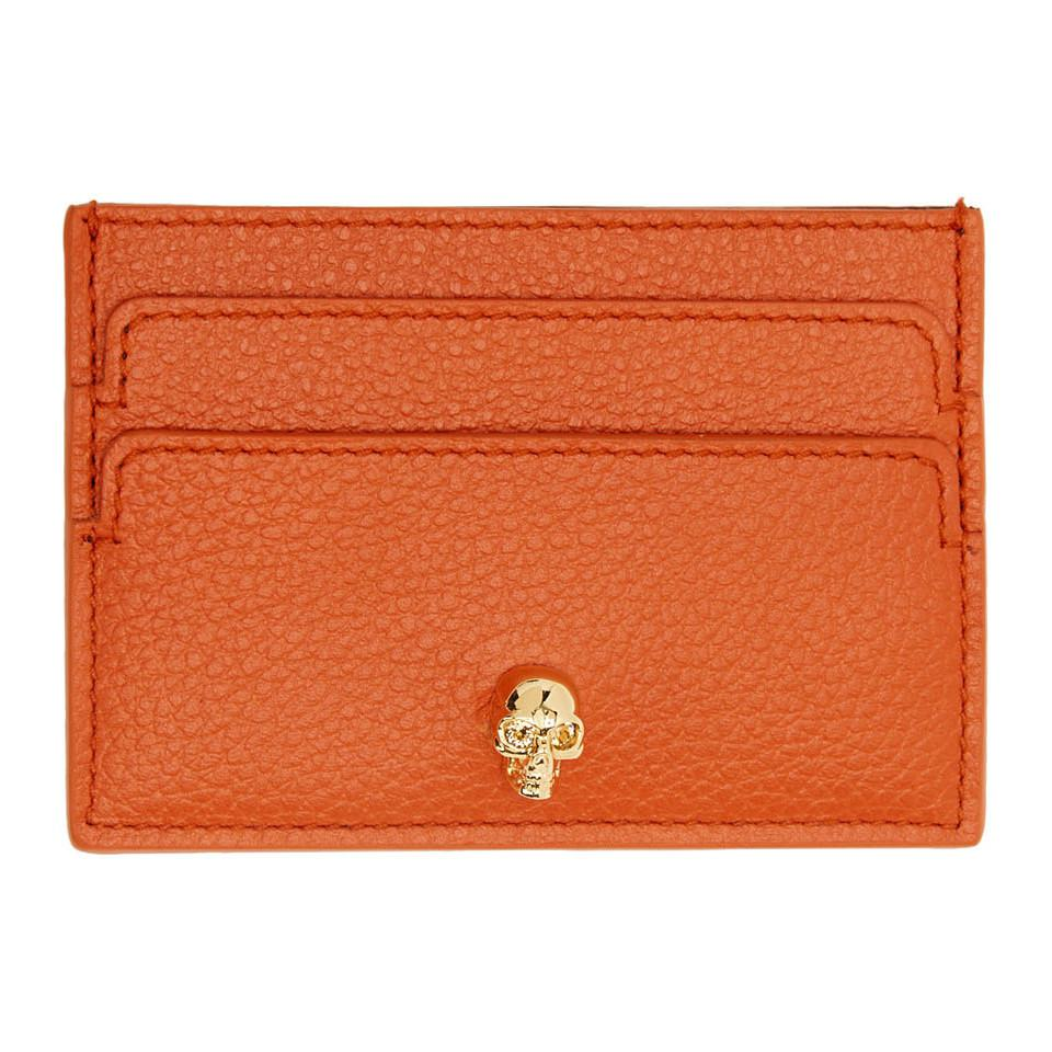 Wholesale Price skull cardholder - Yellow & Orange Alexander McQueen Online Cheap Authentic Wholesale Online Q4y96siQJj