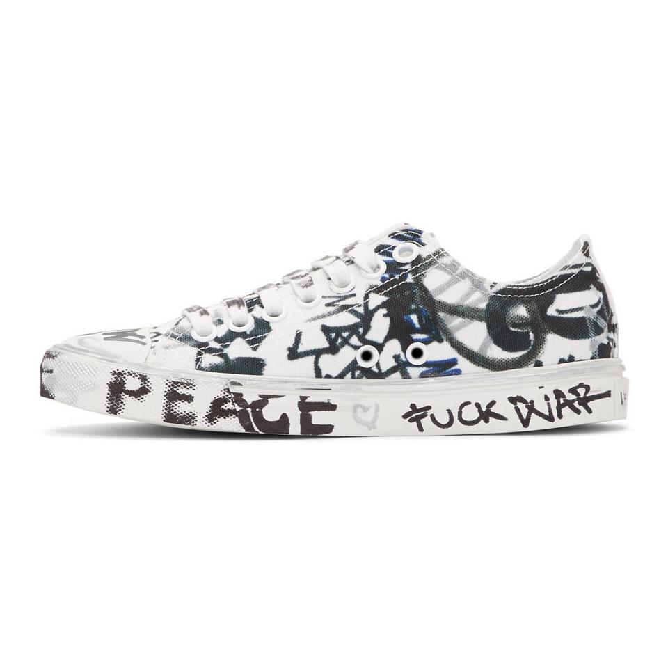 542e60334474 Vetements - White Georgian Graffiti Sneakers - Lyst. View fullscreen