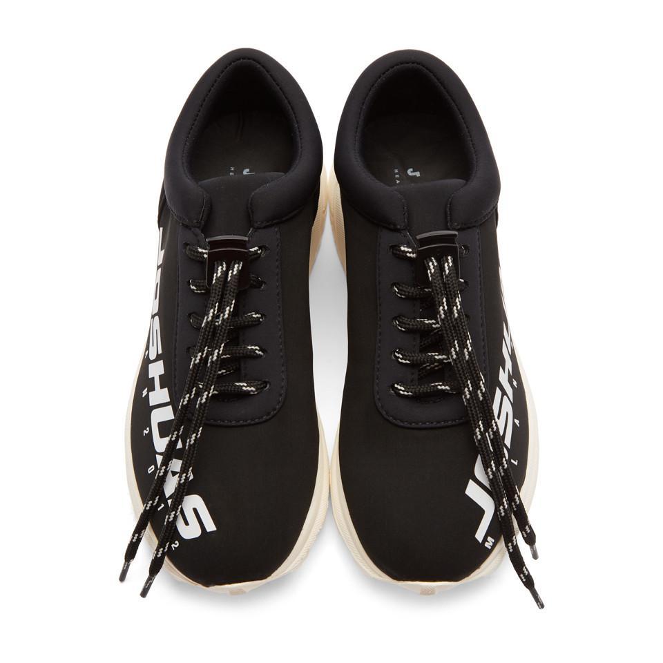 Joshua Sanders Black Neoprene Racing Sneakers