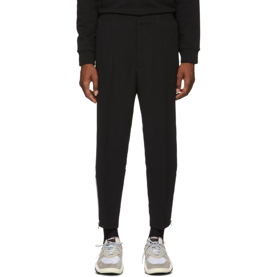 0742a4f9ca8 Lyst - Pantalon en crepe noir Sport Alexander McQueen pour homme en ...