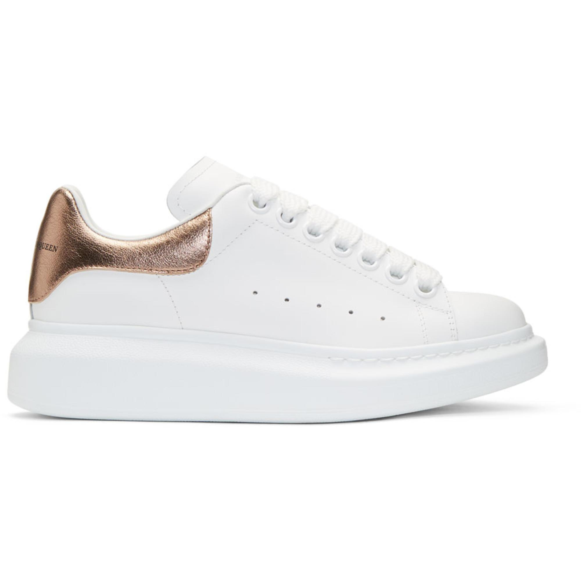 White and Rose Gold Oversized Sneakers Alexander McQueen eF057H2tu