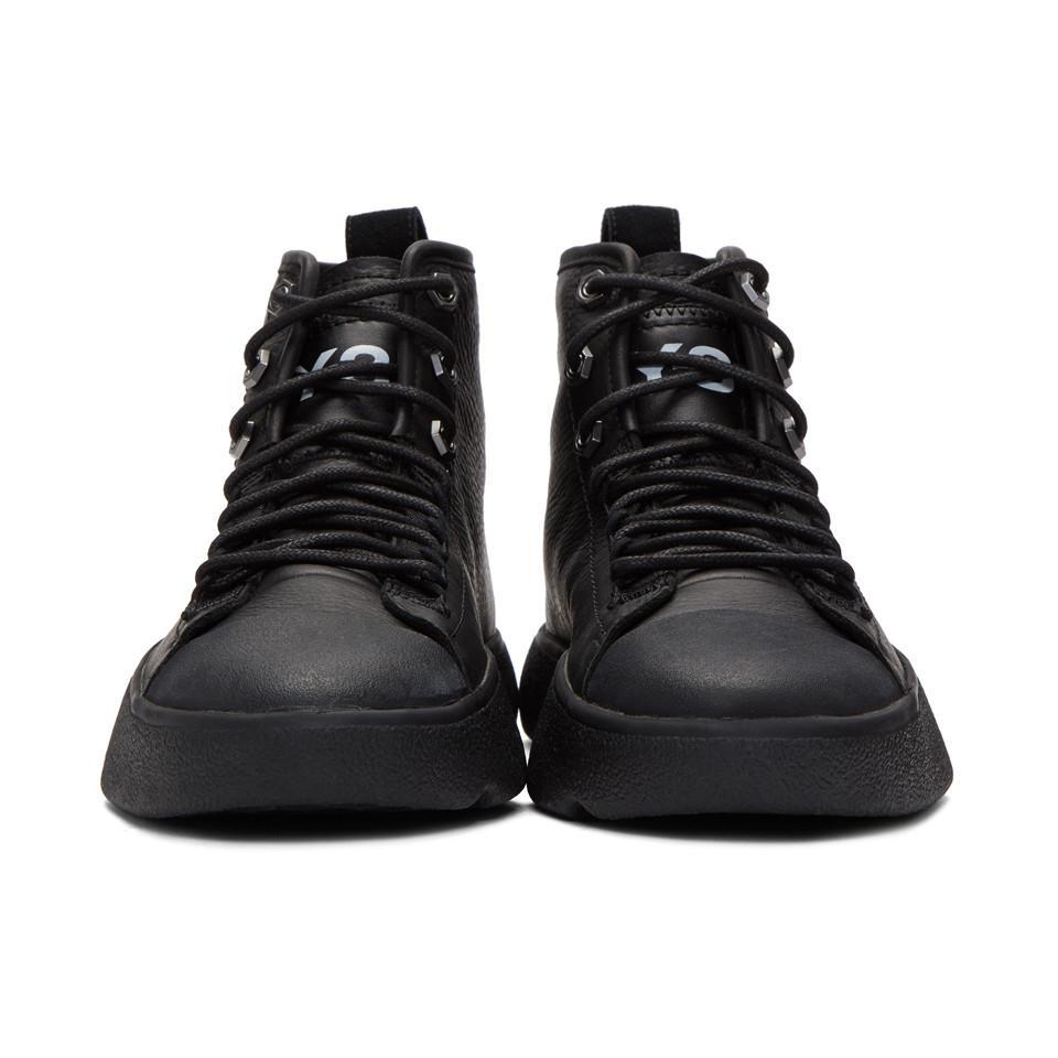 Baskets montantes noires Bashyo Y 3 en coloris Noir Lyst
