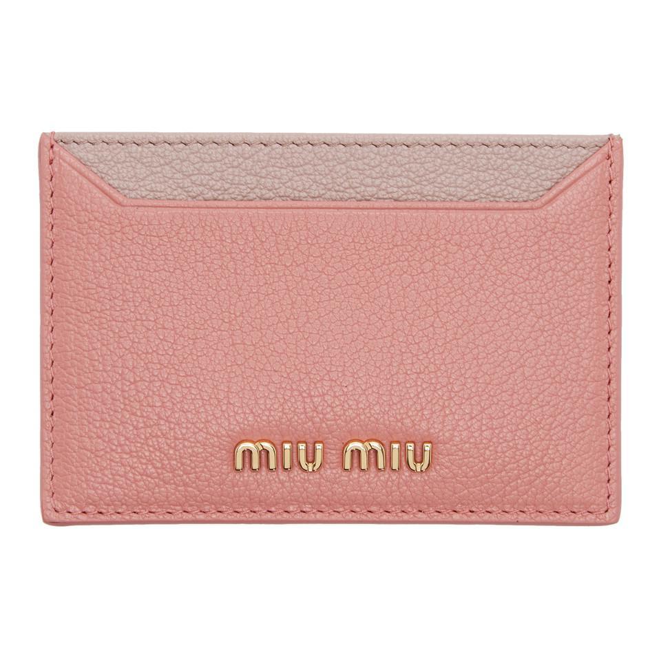 Silver Bow Card Holder Miu Miu 3HTkNgZ