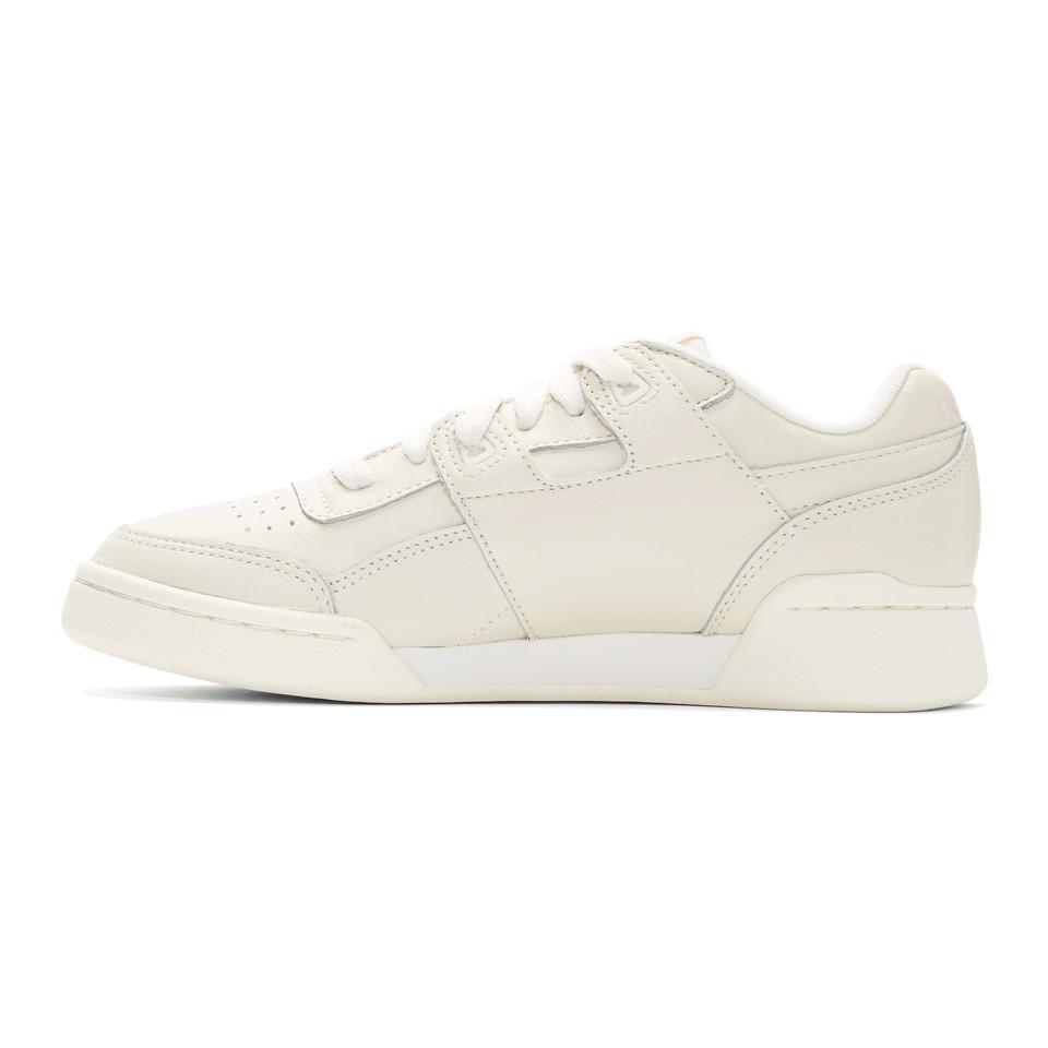 67da506367d7 Reebok - White Workout Plus Vintage Sneakers - Lyst. View fullscreen