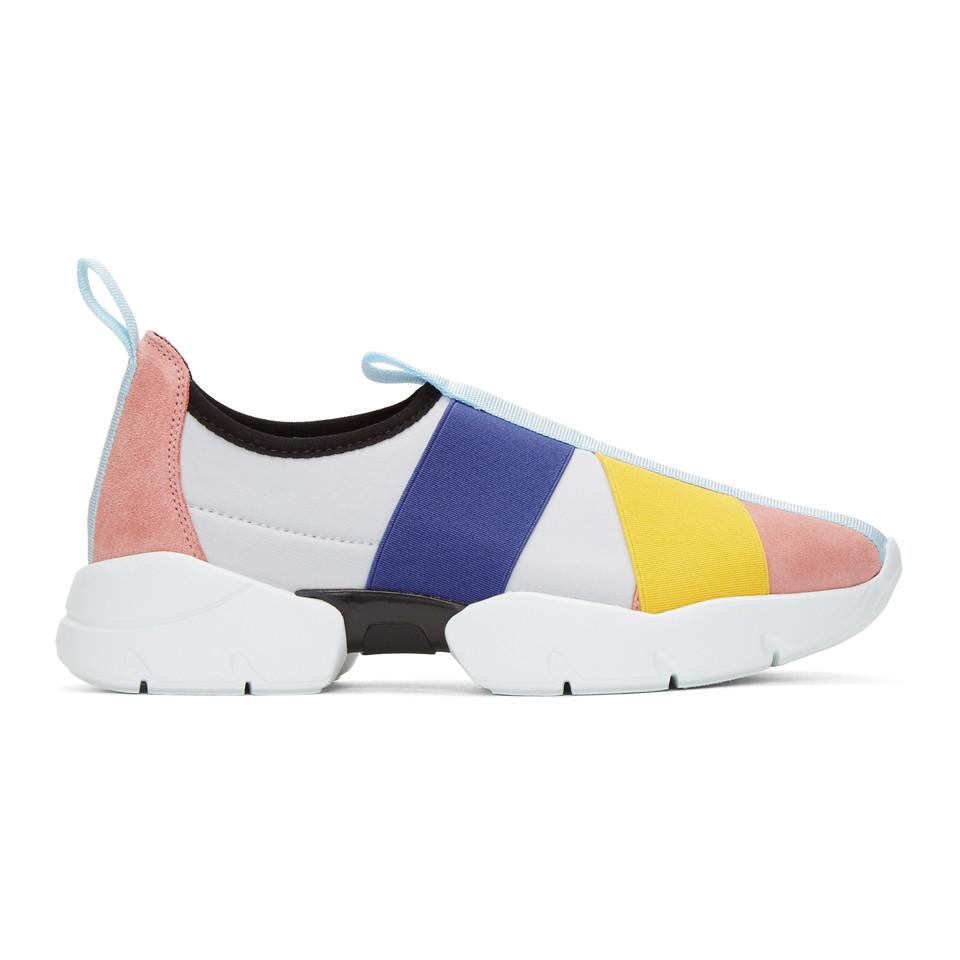 Emilio Pucci Pink City Up Elastic Sneakers