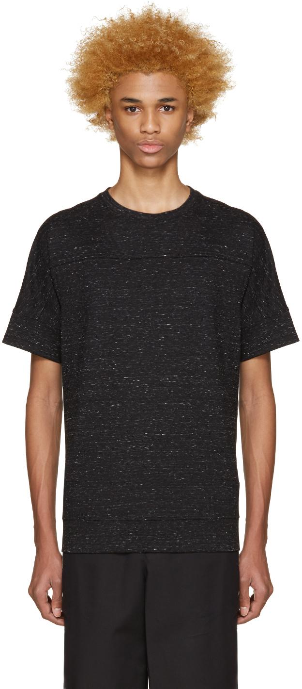 Helmut lang black seamed t shirt in black for men lyst for Helmut lang tee shirts