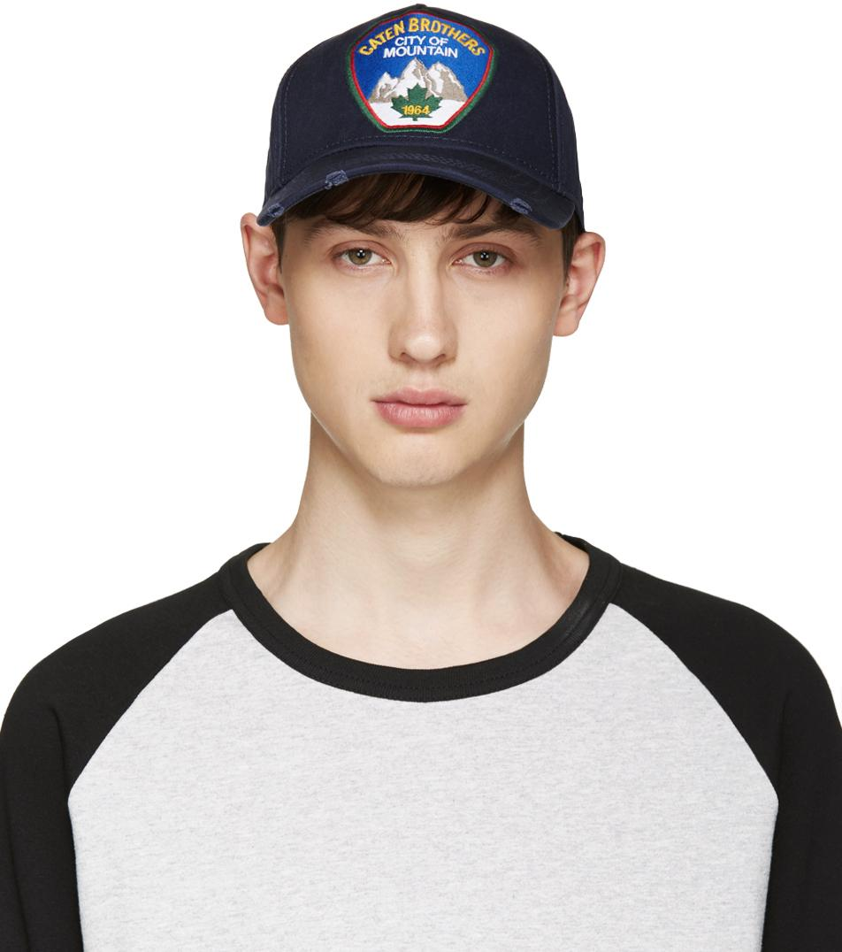 1402775cc4c DSquared² Navy City Of Mountain Cap in Blue for Men - Lyst