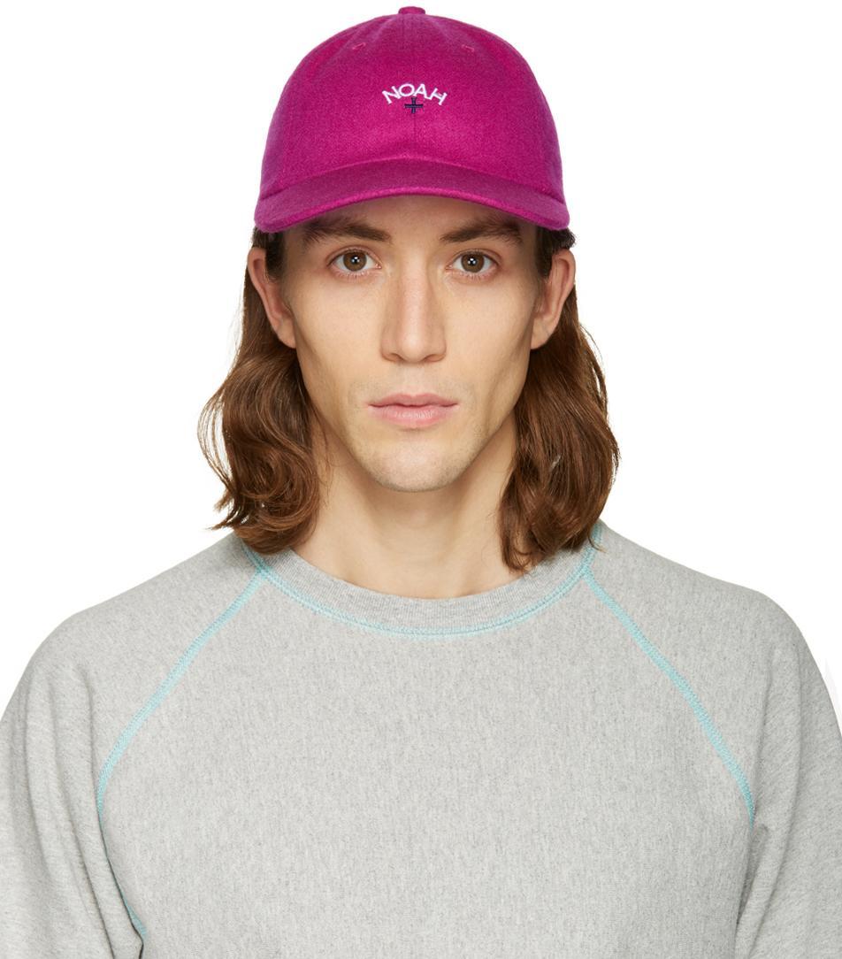 2ef2acca4f6 Lyst - Noah Pink Logo Cap in Pink for Men