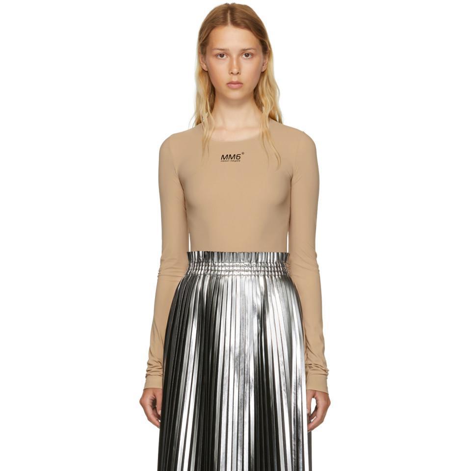 Silver and Black Laminated Plisse Skirt Maison Martin Margiela Latest Sale Online Clearance CEYFGy7d