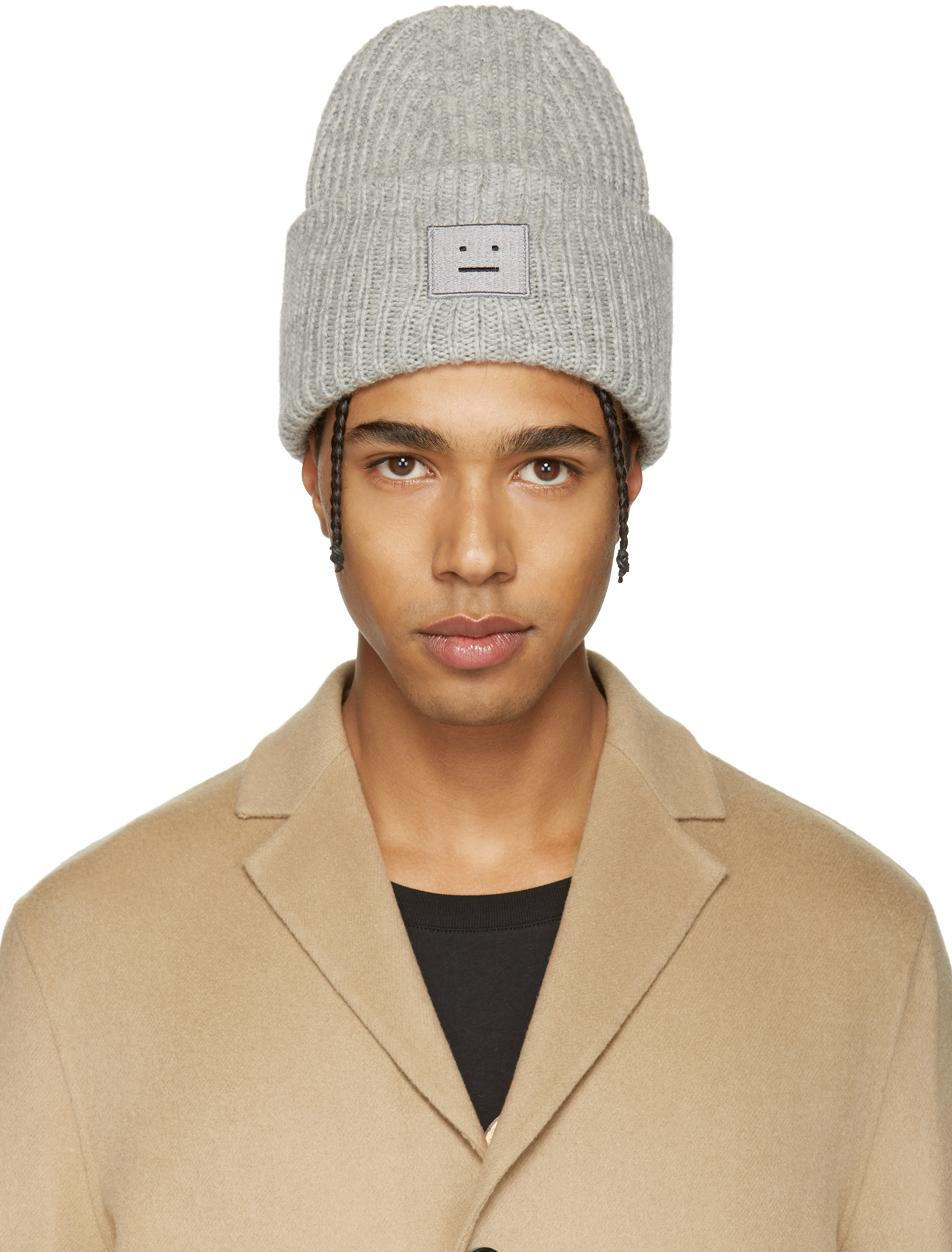 Lyst Acne Studios Grey Pansy H Beanie In Gray For Men