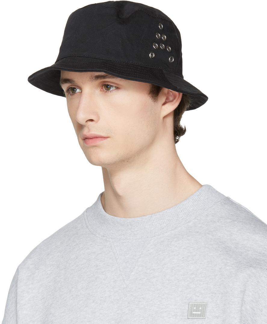 Lyst - Acne Studios Black Buk A Bucket Hat in Black for Men 23fbd5f25900