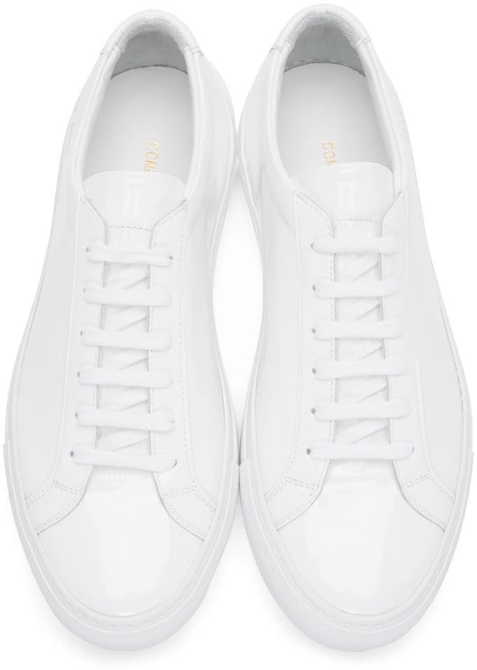 common projects white achilles low gloss sneakers in white for men lyst. Black Bedroom Furniture Sets. Home Design Ideas