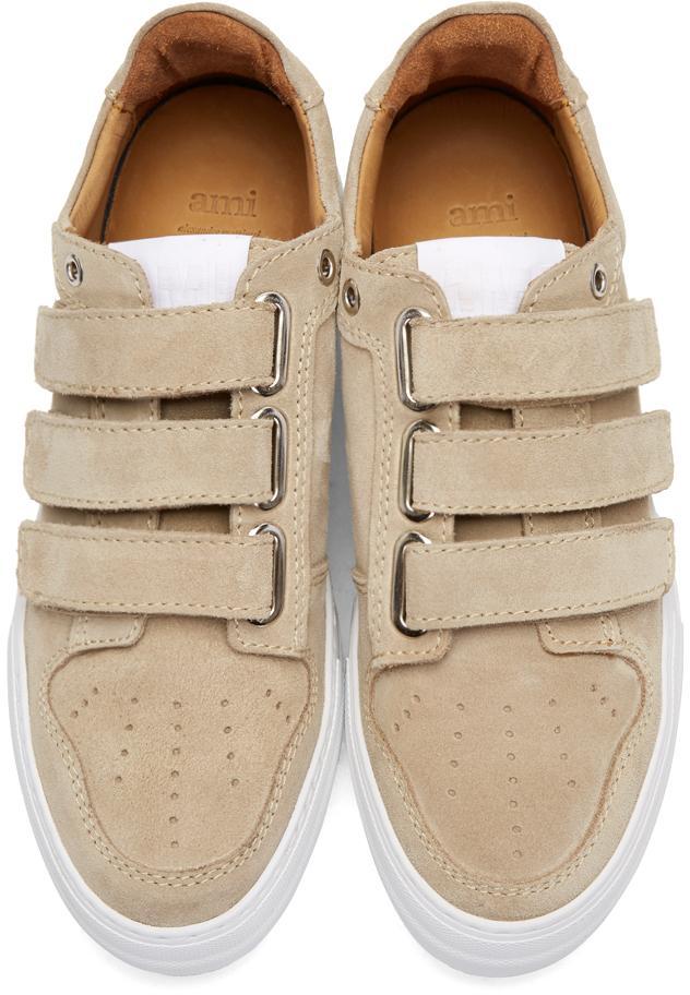 White Designer Velcro Shoes Ssense