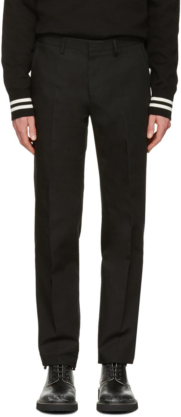 Calvin Klein Black Exact Trousers In Black For Men | Lyst