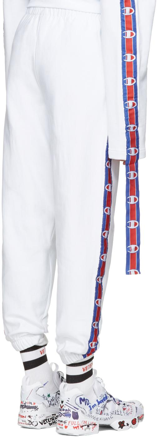f441e78ee876 Lyst - Vetements White Champion Edition Tape Track Pants in White for Men
