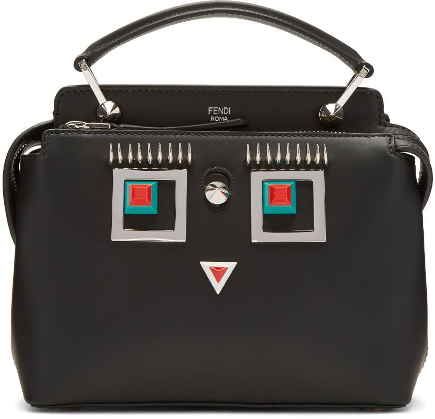 8ceb393b3dd3 Lyst - Fendi Black Square Eye Dotcom Click Bag in Black