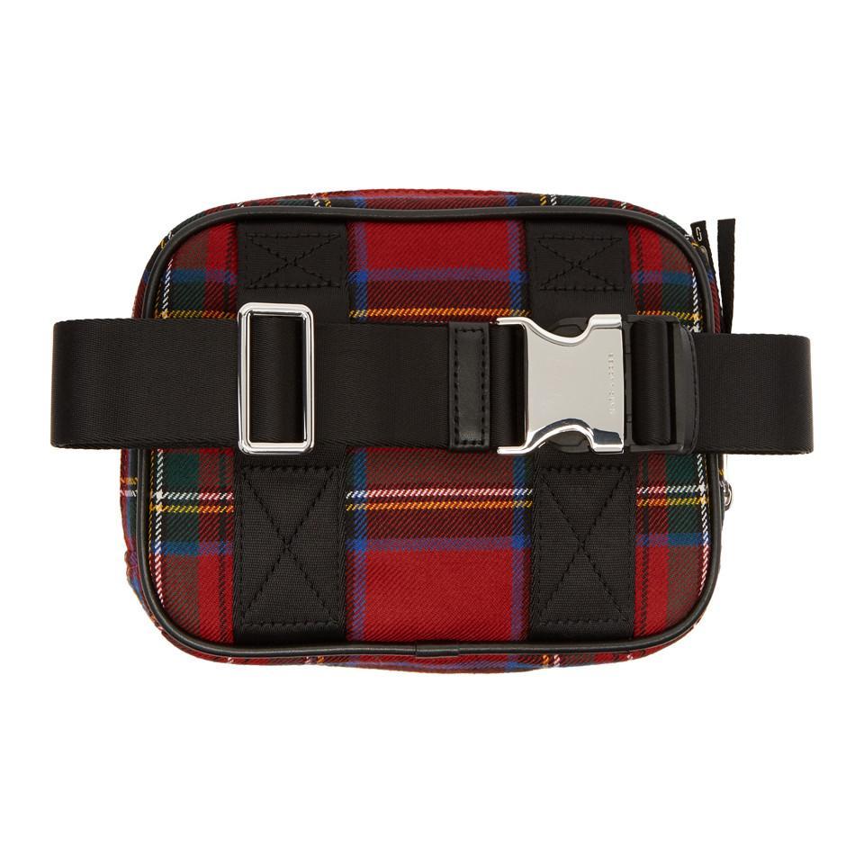 Red Tartan Sport Belt Pouch Marc Jacobs nPDXm8I