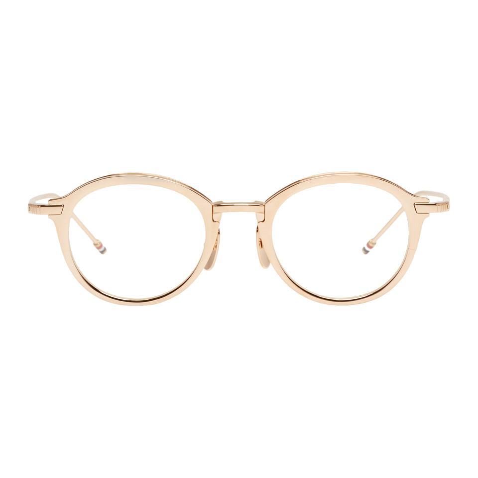 5e4f51738e11 Thom Browne Gold Tb-110 Glasses - Lyst