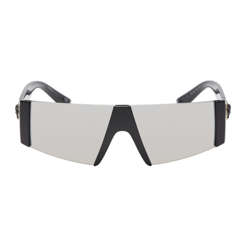 e0672f19224b Lyst - Versace Black Medusa Ares Visor Sunglasses in Black for Men