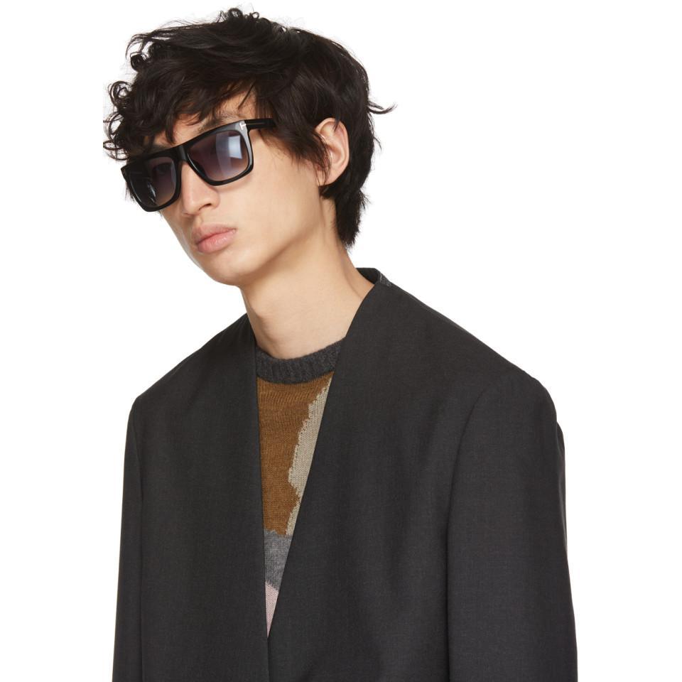 a0ce0e6a23425 Lyst - Tom Ford Black Morgan Sunglasses in Black for Men