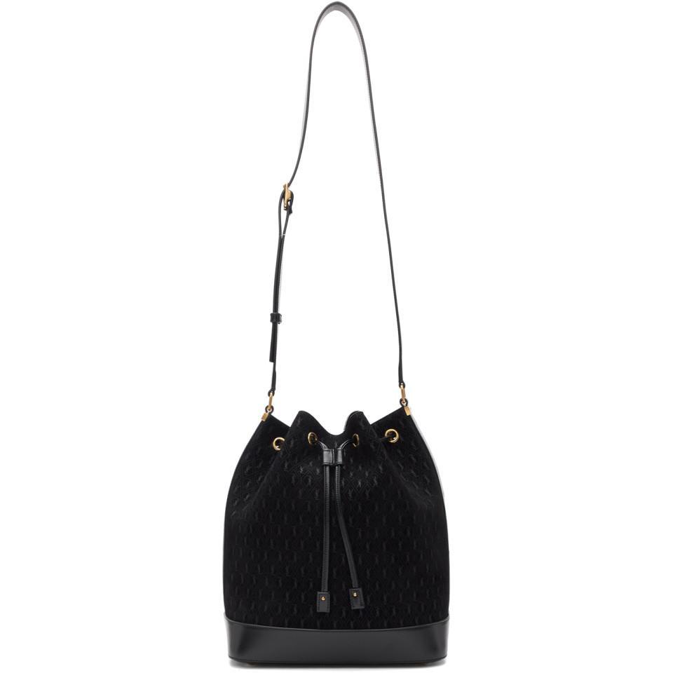 b33f87200013 Lyst - Saint Laurent Black All-over Monogramme Philadelphia Bag in Black
