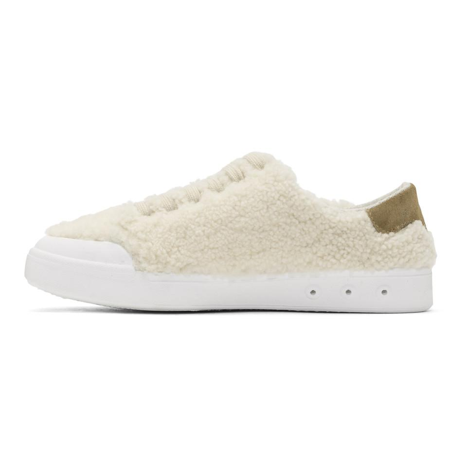 Ivory Shearling Standard Issue Sneakers Rag & Bone Clearance With Credit Card CjXSu2F