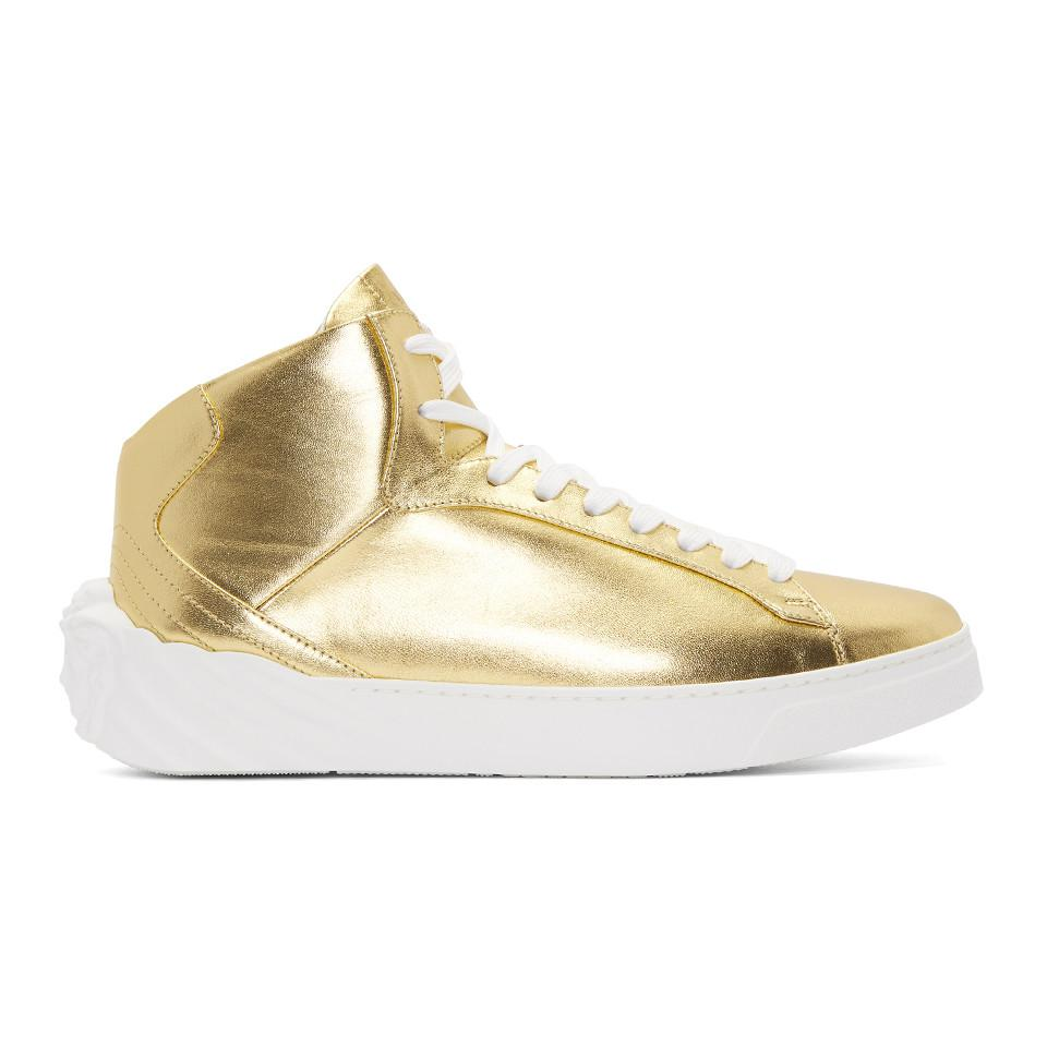 Gold Back Medusa Head Sneakers Versace