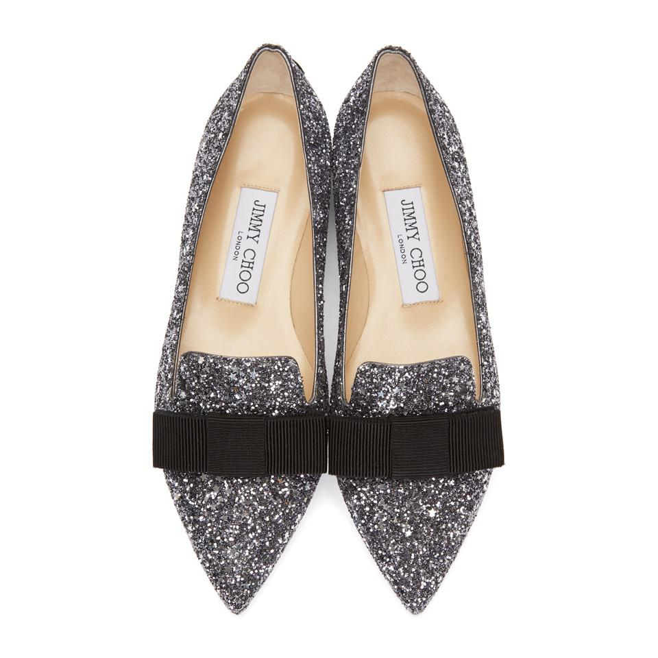 cheap official wide range of Jimmy Choo Pink Glitter Gala Star Loafers discount find great Kdc4sX