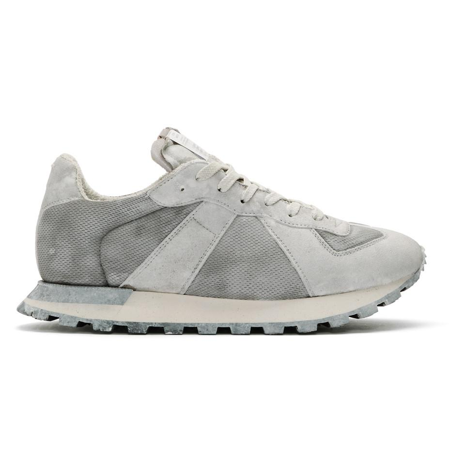 Maison Margiela White Painted Retro Runner Sneakers NO70Qf0t