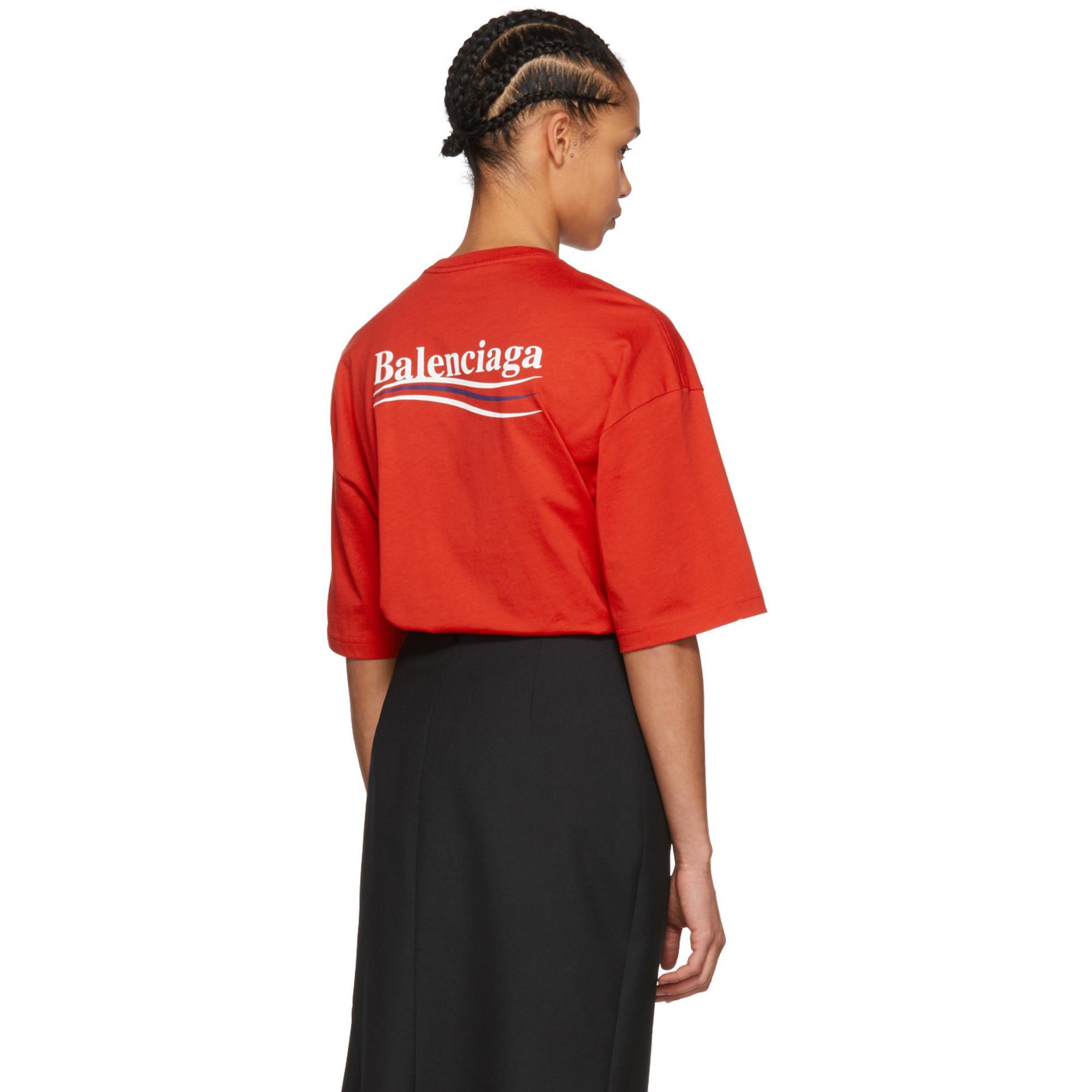 927b53a830d70 T-shirt rouge Campaign Balenciaga en coloris Rouge - Lyst