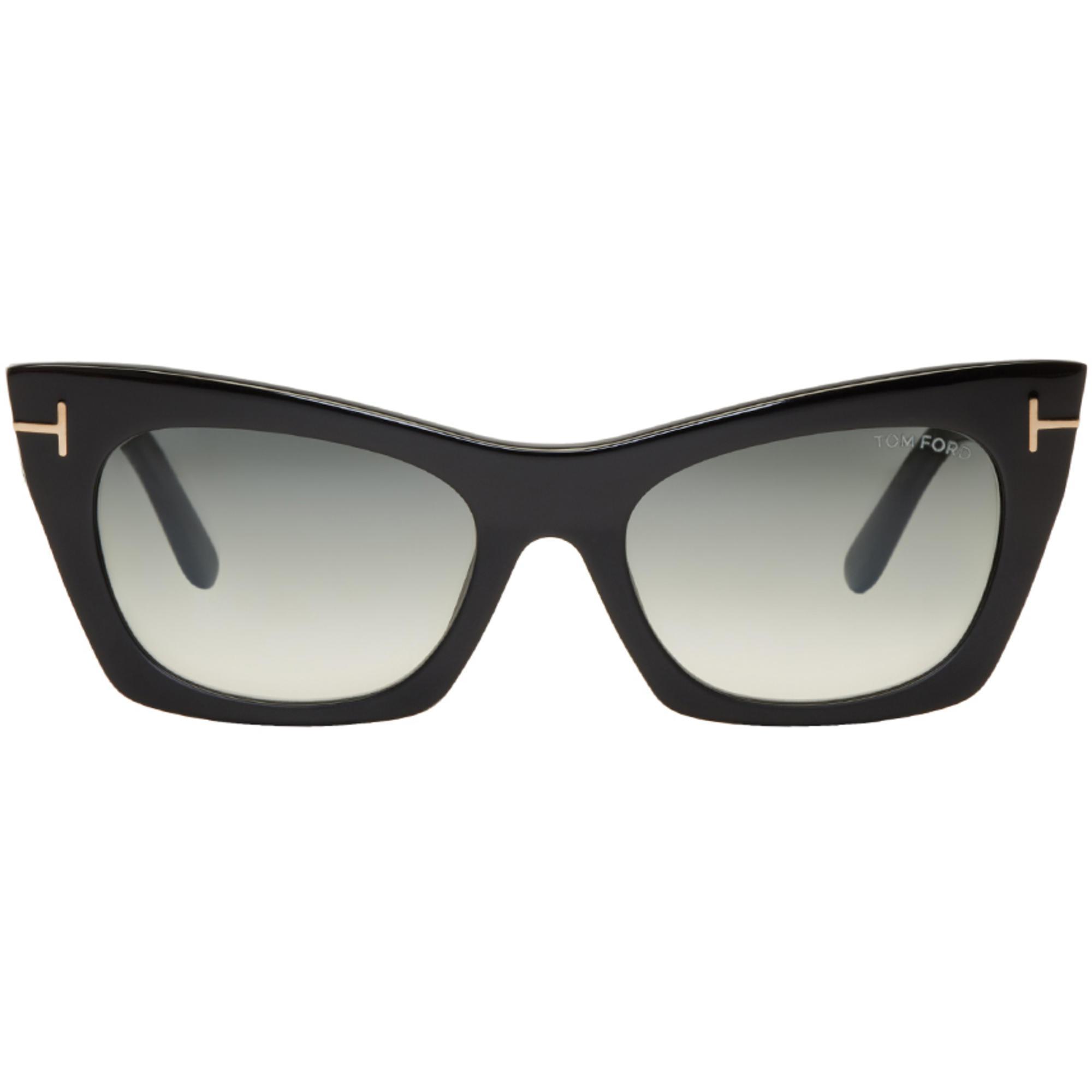489ed720a9f2ec Lyst - Lunettes de soleil oeil-de-chat noires Kasia Tom Ford en ...