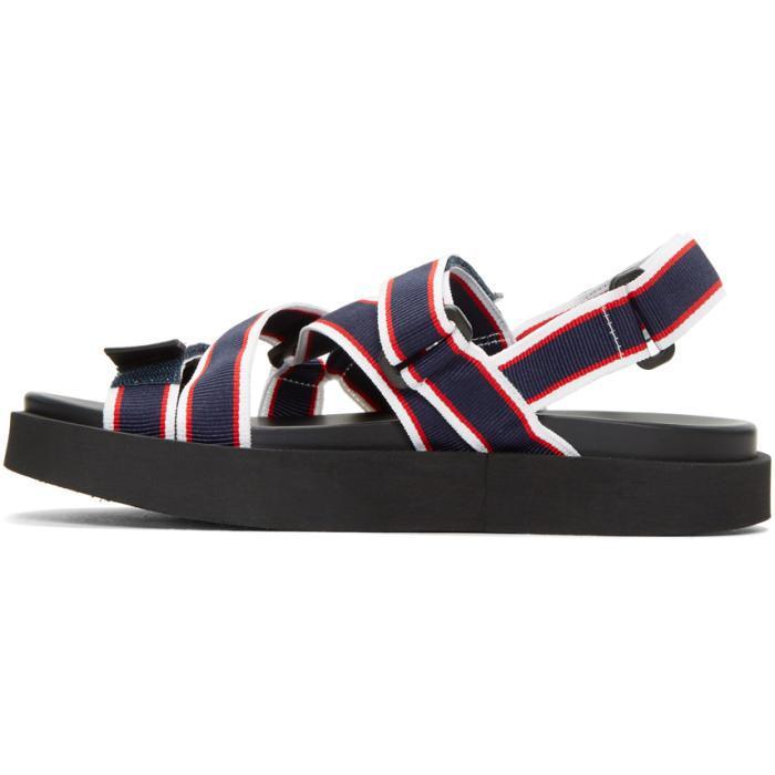 Msgm Tricolor Multi Strap Wrap Sandals XO5qo9KP