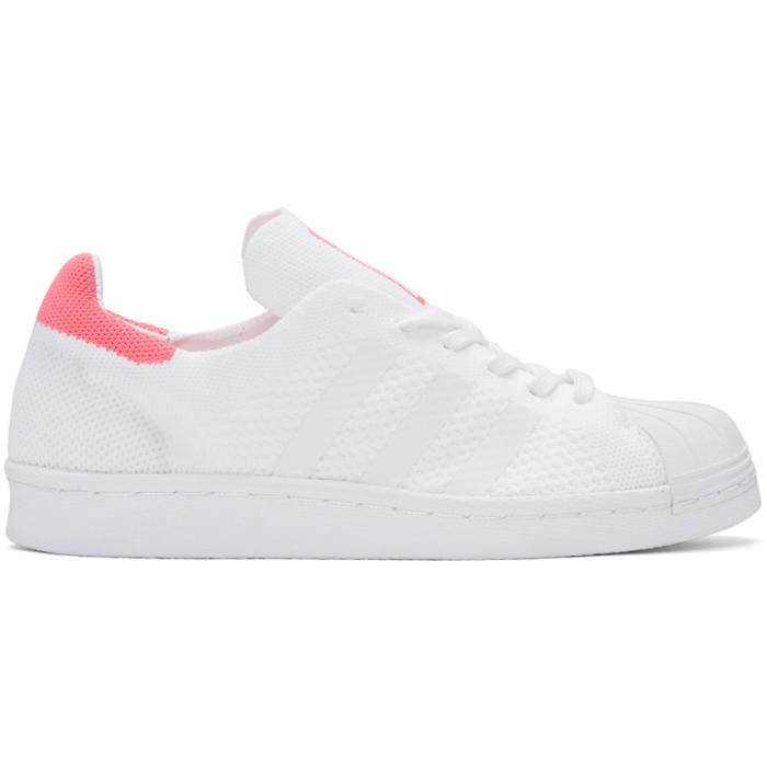 low priced 3c6b7 35093 ... new arrivals lyst adidas originals white pink superstar 80s pk sneakers  in white 016e7 ff9ab