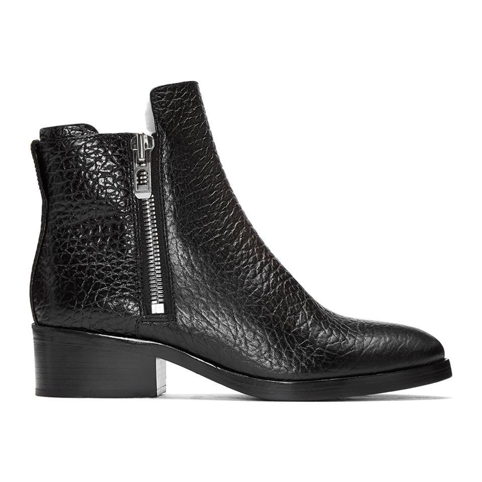 Isabel Marant Black Croc-Embossed Shearling Alexa Boots TWbiQb9C8E