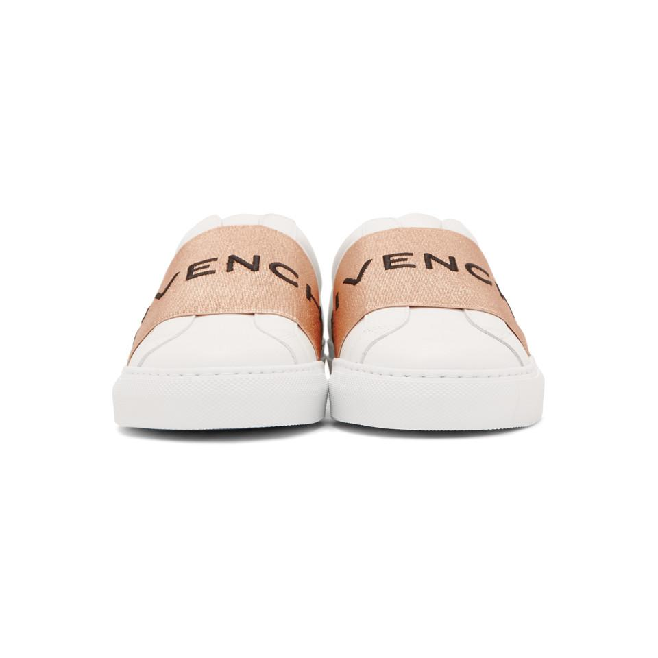 93c7bdc56d5 Givenchy White And Copper Elastic Urban Knot Sneakers - Lyst