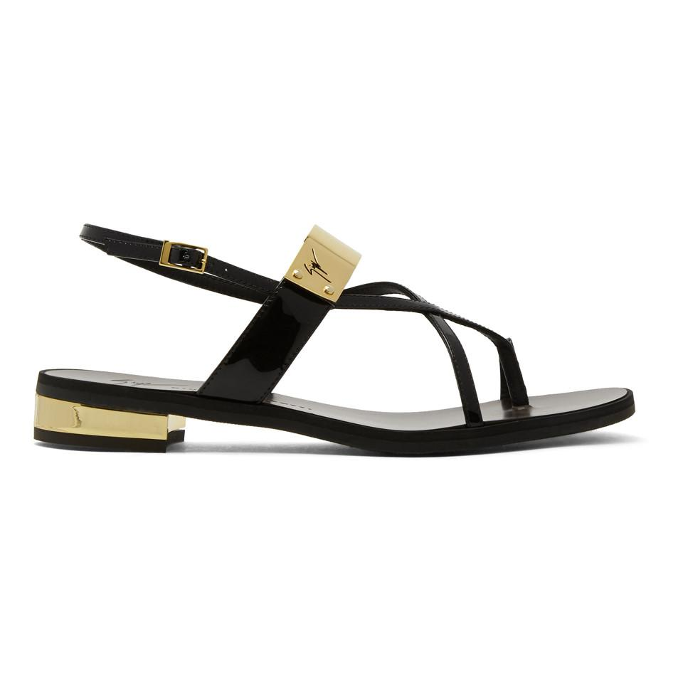 Giuseppe Zanotti Black Bughi Sandals rbBje