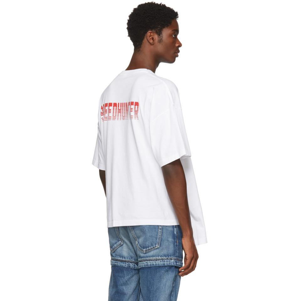 1e947e48f063 Balenciaga White Speedhunter Double Hem T-shirt in White for Men - Lyst