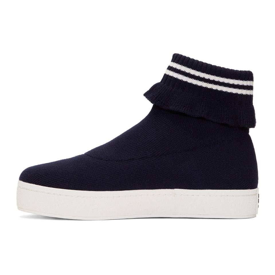 Navy Bobby High-Top Slip-On Sneakers Opening Ceremony Really Cheap Online Cheapest With Mastercard Sale Online Cheap Sale Supply gOAJtvo