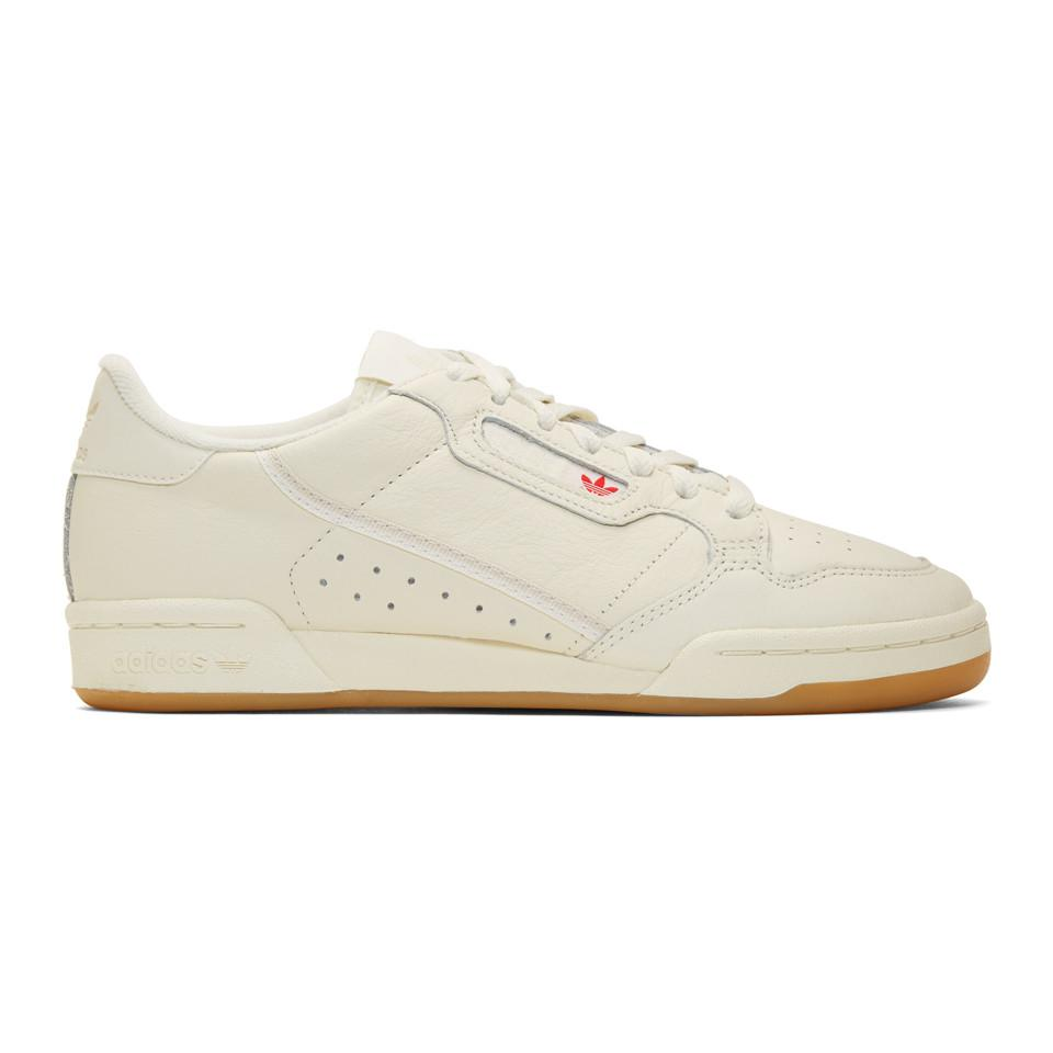 a771ea27f47b4d Adidas Originals Off-white Continental 80 Sneakers in White - Lyst