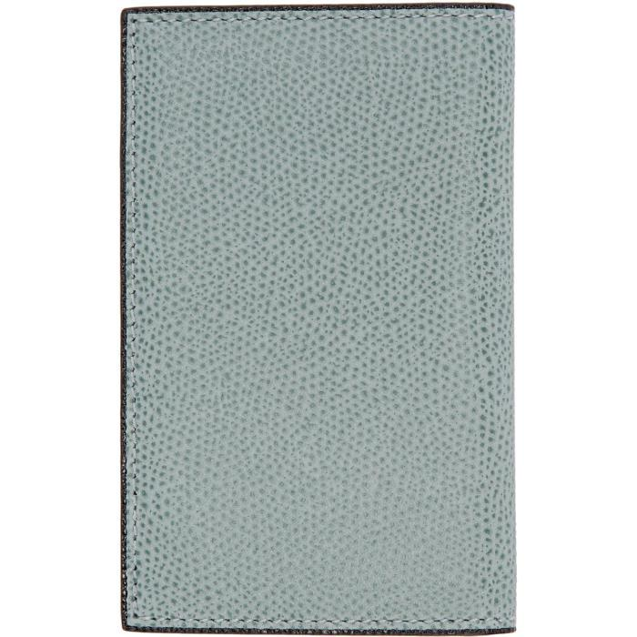 Valextra Blue Business Card Holder in Blue | Lyst