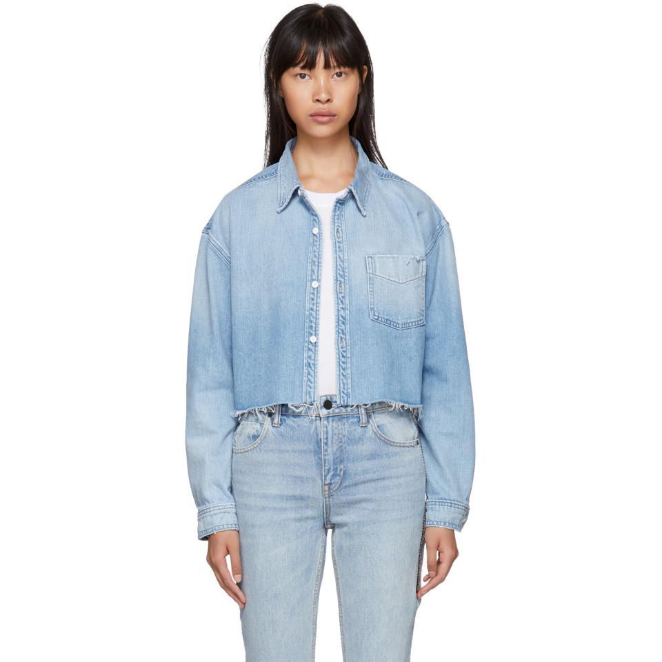 Blue Denim Christy Shirt GRLFRND Where Can You Find 6EvpLYRrcr