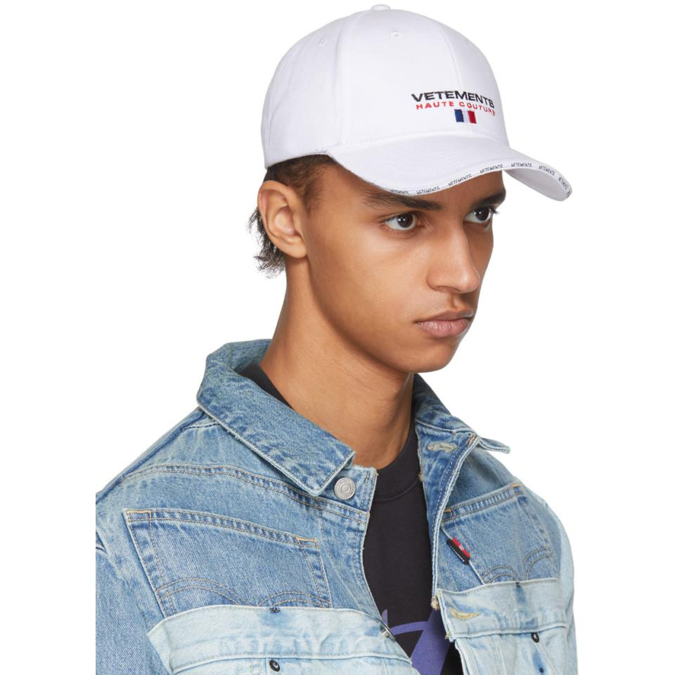 Haute Couture Logo Baseball Cap VETEMENTS jPM1elte0P