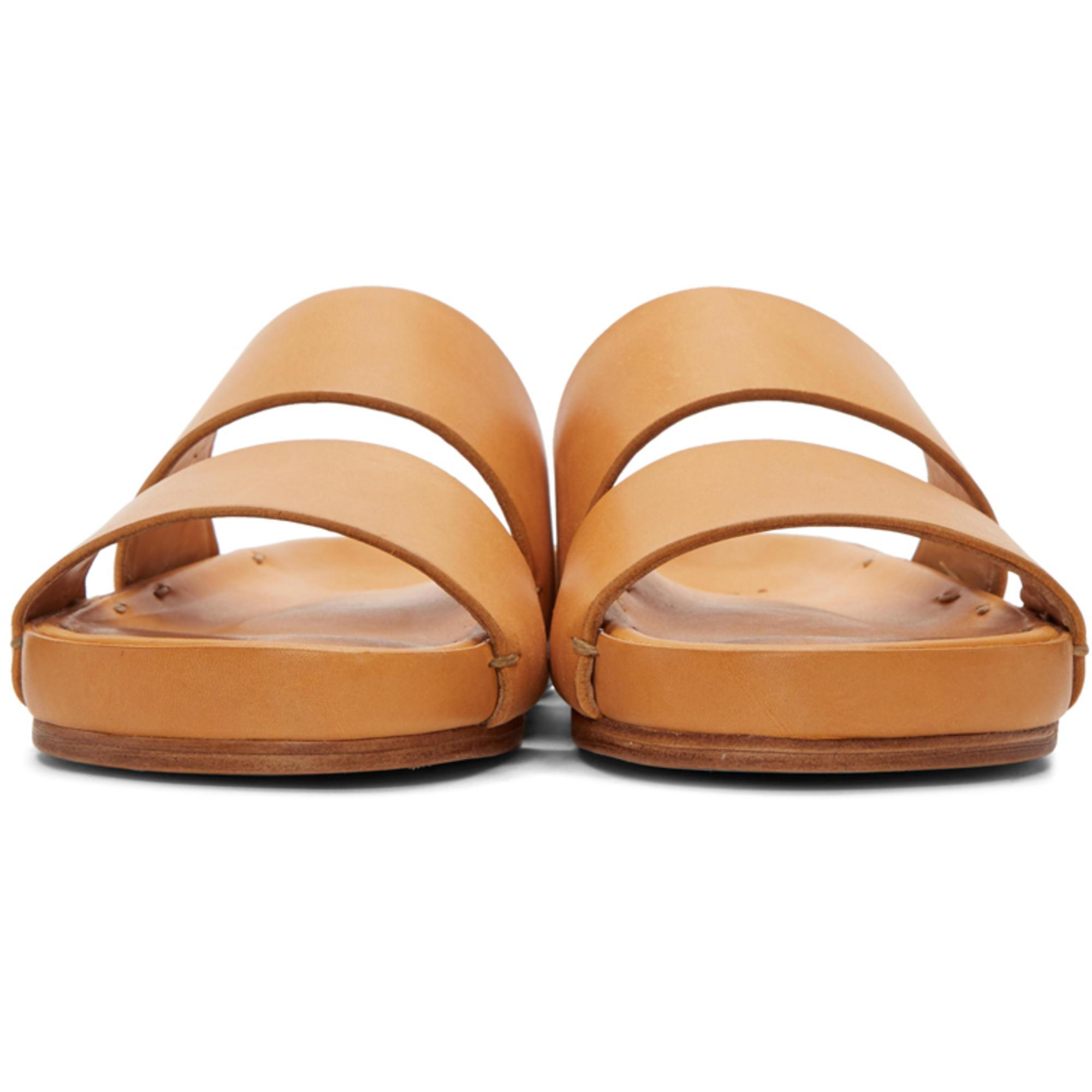 6663b2748026 Lyst - Feit Tan Two-strap Sandals in Brown for Men