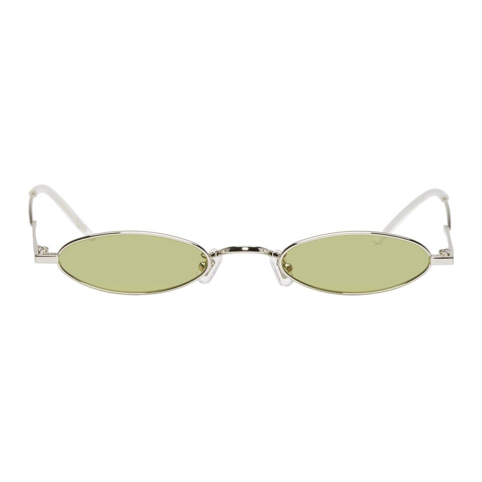 3ccee14e5295 Gentle Monster Silver And Green Vector Sunglasses in Green for Men ...