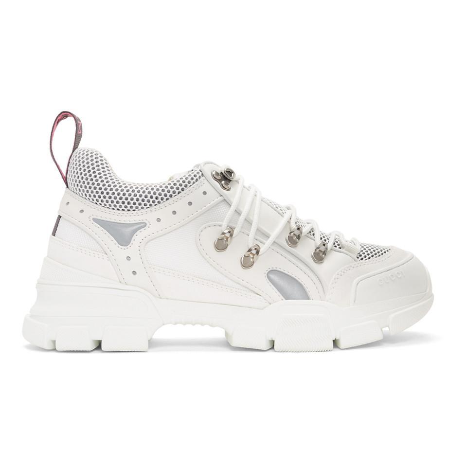 c773bbf42ab Lyst - Gucci White Flashtrek Sneakers in White for Men