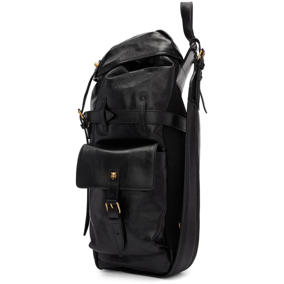 2f90968b9955 Gucci - Black Multi Pocket Flap Backpack for Men - Lyst. View fullscreen