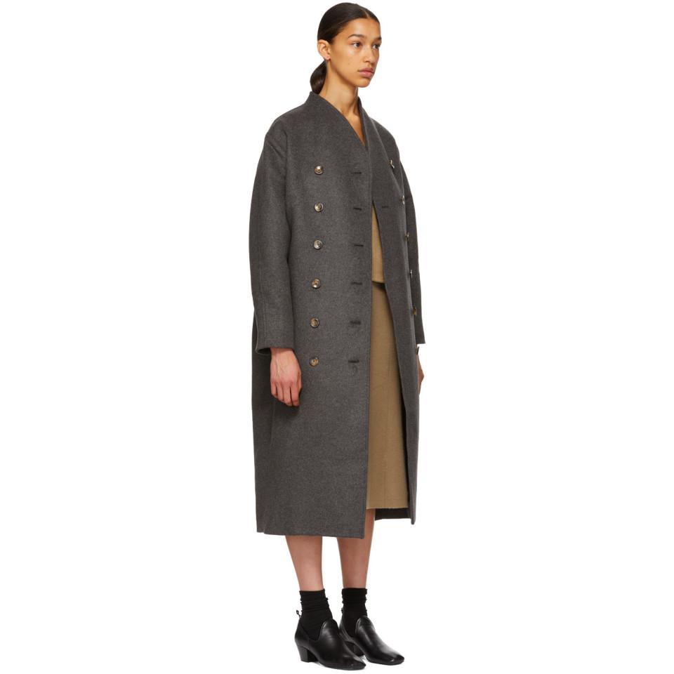 51e6a1646731 Totême Grey Wool Bergerac Coat in Gray - Lyst