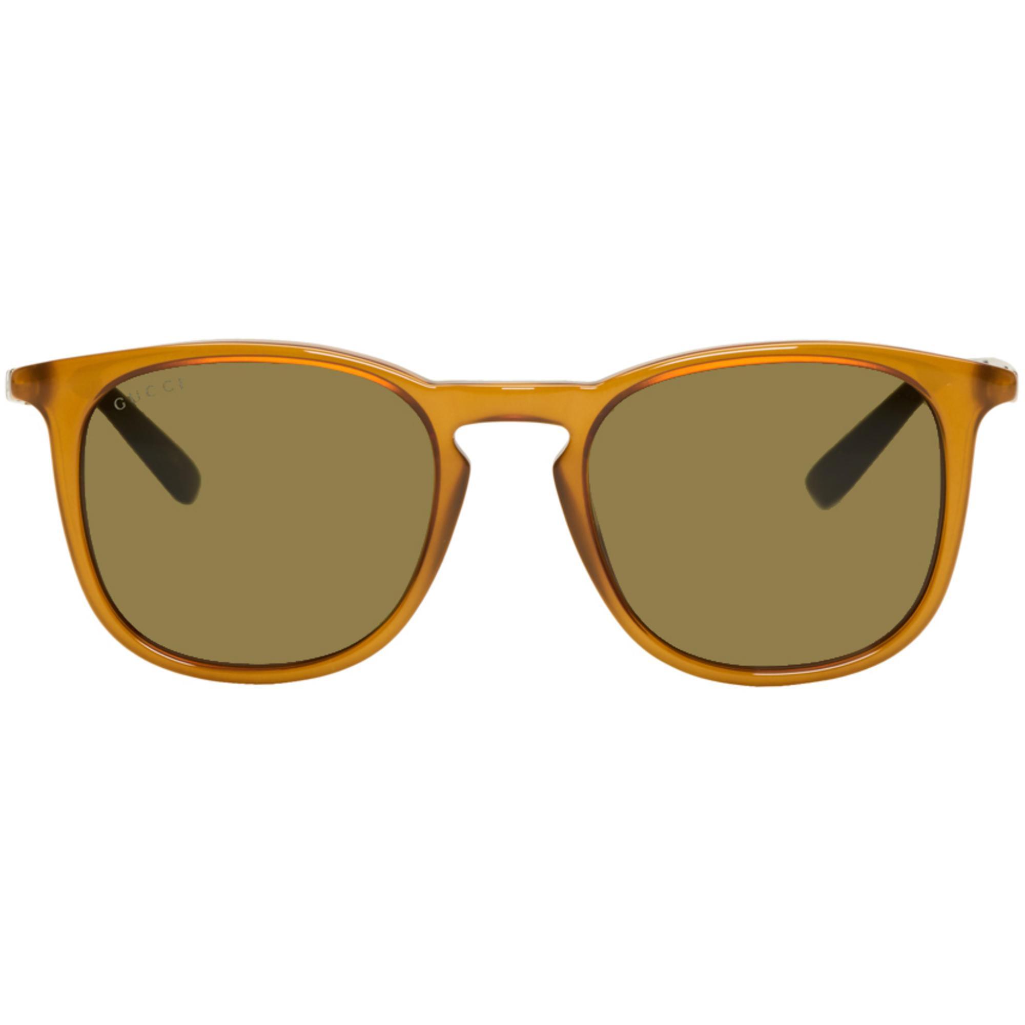 1772807cc58 Lyst - Gucci Tan Sensual Romanticism Retro Web Sunglasses in Brown